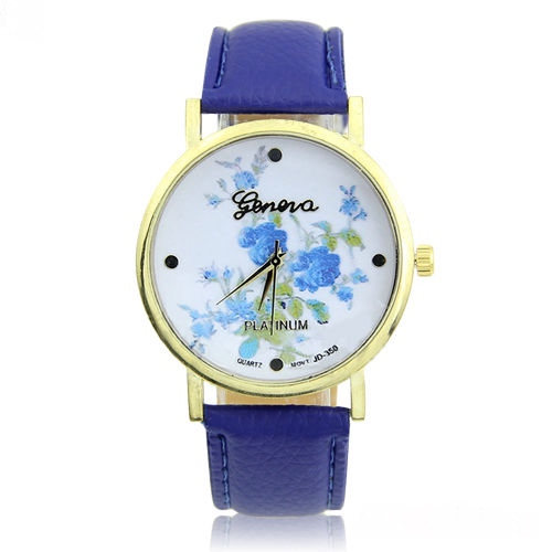 Blue Floral Watch For Women 5