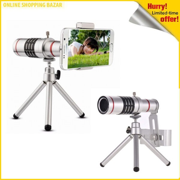 18x zoom lense for mobile with mini tripod 3