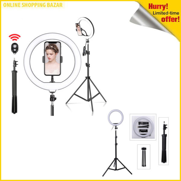 26 cm ring light with 9ft full size big Stand 3