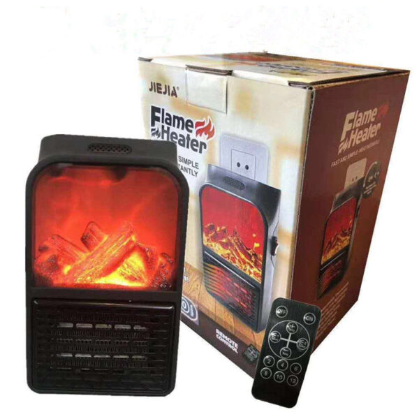 Electric Flame Heater 900 Watt With Remote 5