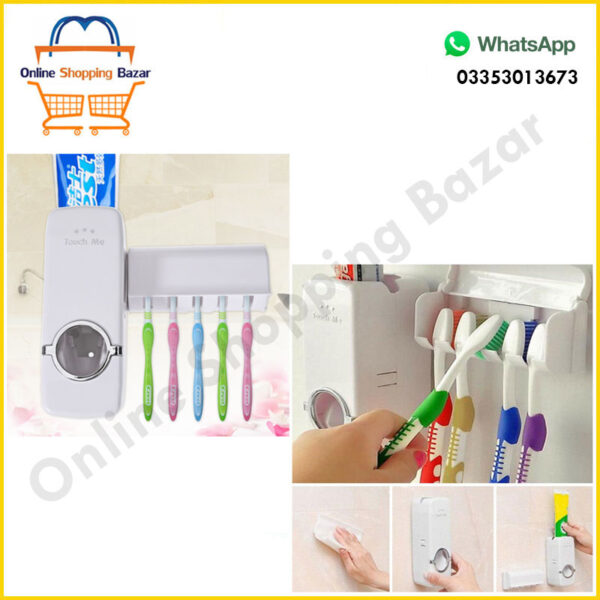 Toothpaste Dispenser + Five Toothbrush Holder 3