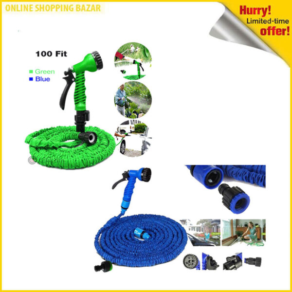 Magic Hose Water Pipe 100ft for Garden & Car wash 3