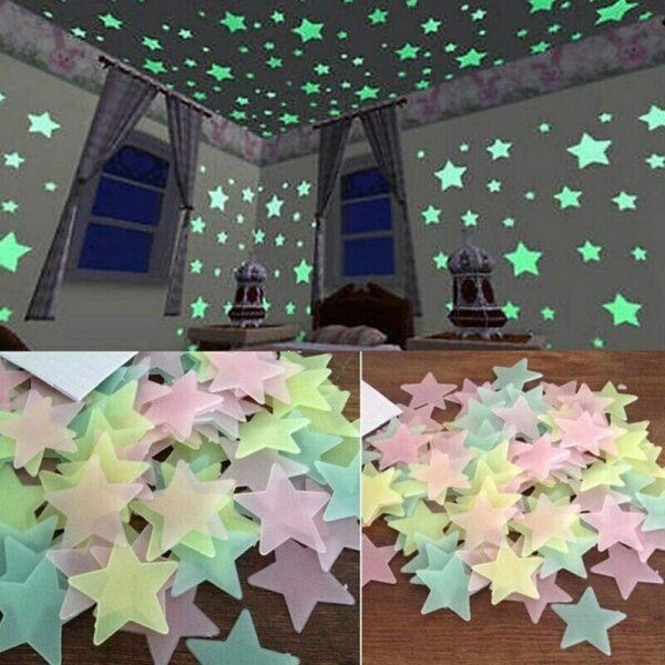 pack of 100 pcs shining star 5