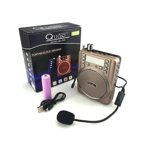 Amazing Portable Speaker With HD Mic Qugo 204 4