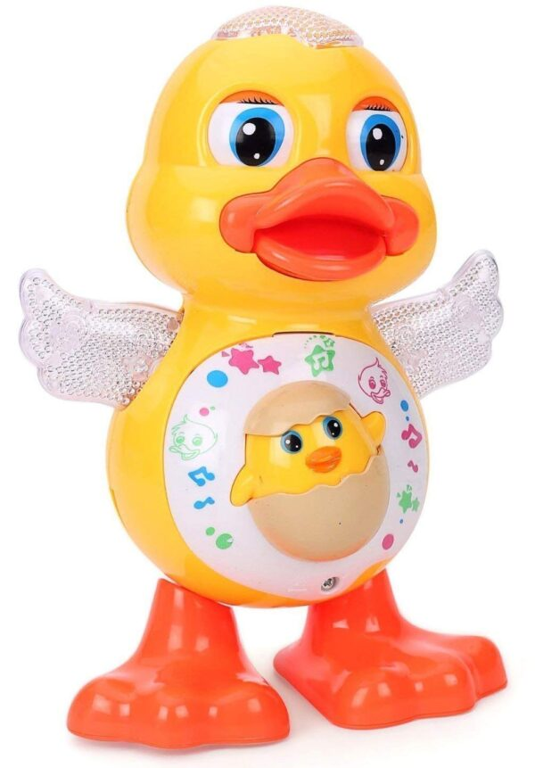 Dancing duck toy with music light 4