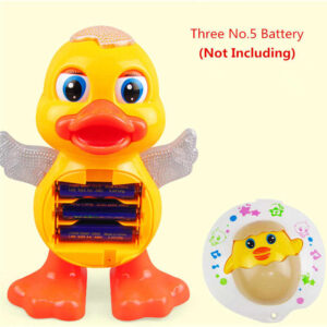 Dancing duck toy with music light
