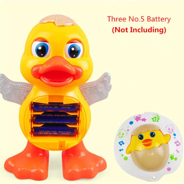 Dancing duck toy with music light 3